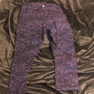 Lululemon purple speckled Capri leggings